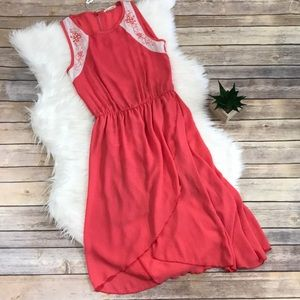 NWT Tea n Rose Coral 'Out On A Whim' Sheath Dress